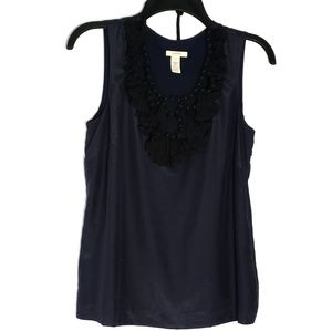 J. Crew | Silk Beaded Tank Top Blouse